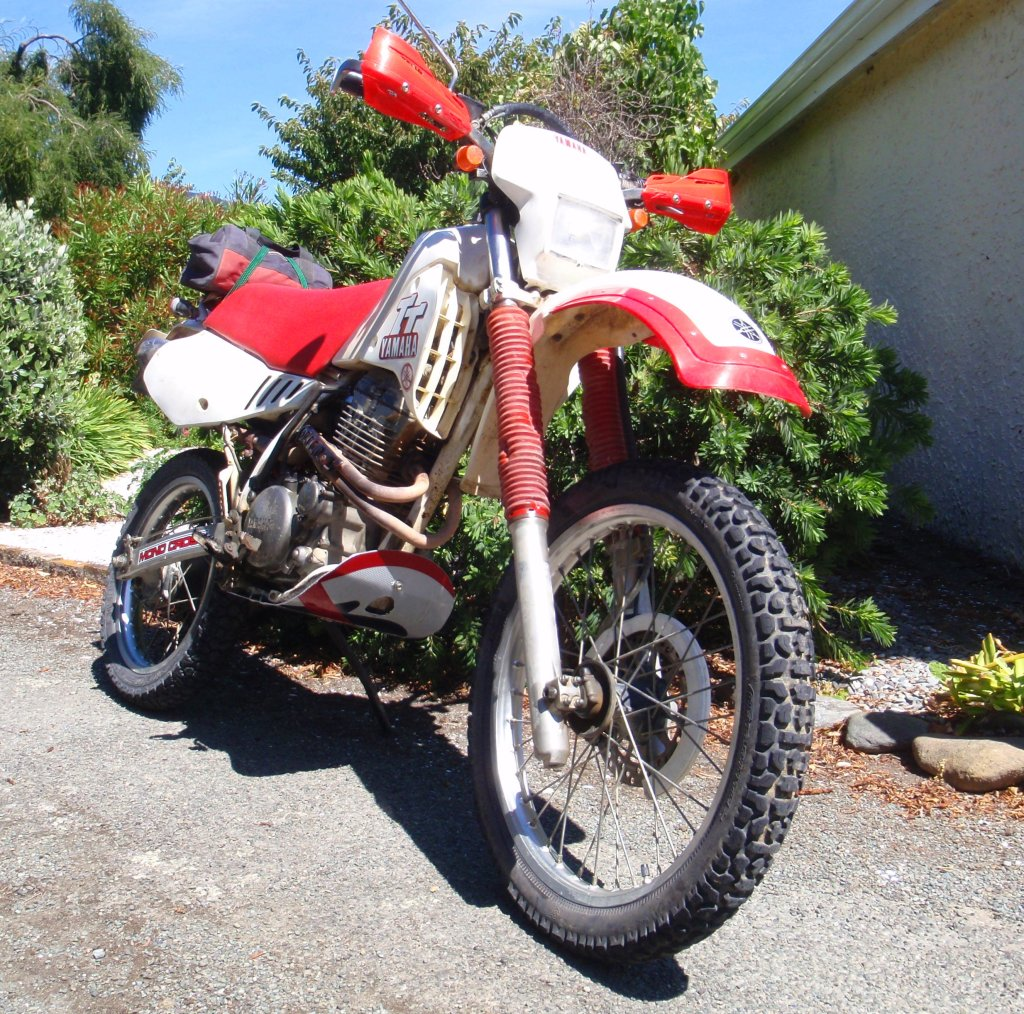 tt350 not xt350 adventure rider been tidying mine up